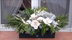 Garland, Plants, Christmas, Window, Box, Outdoor, Yule, Outdoors, Xmas