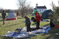 The Boy Scouts had a good, albeit cold night camping at Stuhr and are headed off on their hike along the Mormon Trail just a bit later this morning. Let's hear it for these hearty lads learning history!
