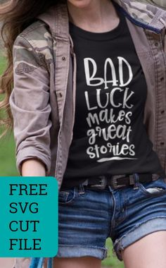 Perfect for an unlucky friend or Friday the 13th! Free SVG cut file for Silhouette Cameo, Cricut Explore or Maker: http://cuttingforbusiness.com/2017/10/13/free-bad-luck-svg-cut-file/