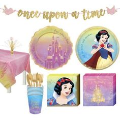 Disney Princess Snow White Tableware Kit for 24 Guests Birthday Party Supplies Snow White Party Supplies, Kids Party Supplies, Disney Princess Snow White, Disney Princess Birthday, Princess Party Decorations, Birthday Decorations, Snow White Birthday, Cutlery Set, Dinner Plates