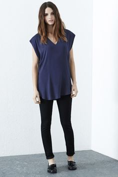 Panelled Satin LL Tee from Warehouse. £40