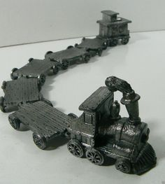 Handcrafted Fine Pewter 7 Ppiece Set Train Engine Caboose for Display RB 86 | eBay