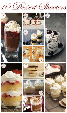 <p>Whether you're planning a wedding or just a fun get-together with friends, these mini desserts are sure to be a hit! {1} Smith Bites Chocolate Berry Pie Shots {2} Lucy Dylan Weddings Old-Fashioned Strawberry Shortcake Dessert Shots {3} Call me cupcake! Cherry Trifle {4} Gimme Some Oven Easy Butterfinger Brownie …</p>