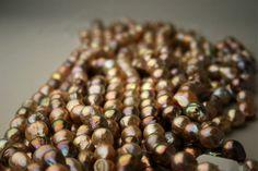 loose hanks of freshwater pearls