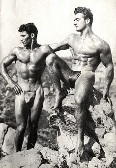 photograph from the 1940's of Angelo Noto posing with Joe Ciulla.