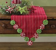 Park Designs Yoyo Christmas Table Runner for sale online Christmas Tree On Table, Crochet Christmas Trees, Christmas Fabric, Christmas Tree Toppers, Christmas Crafts, Christmas Decorations, Fabric Crafts, Sewing Crafts, Diy Crafts