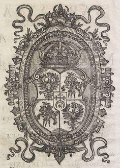 """Coat of arms of Michael Korybut Wiśniowiecki in Stanisław Piotrkowczyk's """"Sarmatia cive patriae coronata serenissimo Michaele Korybvt rege Poloniarvm"""" by Anonymous from Kraków, 1669 (PD-art/old), Biblioteka Narodowa"""