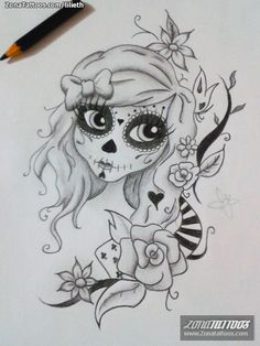 zentangle art catrina - Buscar con Google