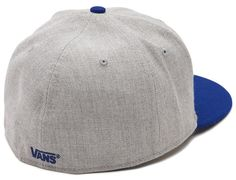 Heather Grey, Classic Blue Drop V 59Fifty Fitted Baseball Cap by VANS