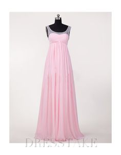 Amazing A-line Floor-length Sweetheart Beading Chiffon Military Ball Dresses, US$90.74