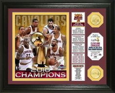 "Cleveland Cavaliers 2016 NBA Champions ""Banner"" 2pc Gold Coin Photo Mint LE #ClevelandCavaliers"