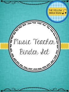 This binder set contains everything you need to organize your music classroom. Fillable PDF templates are included to meet any music teacher's specific needs.
