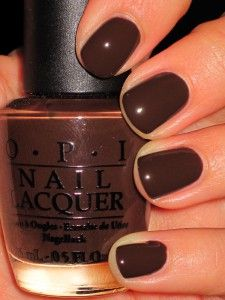 A great deep Rich Chocolate color for the nails by OPI...my fav nail polish!  Great new Fall color.
