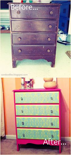 Really like the repainting of this old chest of drawers