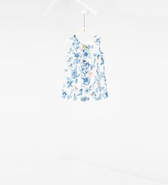 Image 2 of Printed dress with frill from Zara