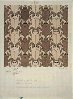 M.C. Escher – Beetle (No. 91). 1953 India Ink, watercolor.