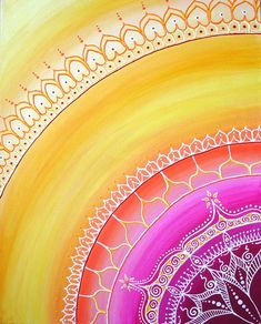 Sari Sun Painting by Cat Hawkins