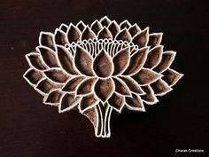 Wood Block, Tjaps, Carved Wood Stamp, Indian Wood Stamps, Pottery Stamp- Lotus
