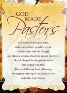 For pastor Dell and pastor Brown Pastor Appreciation Poems, Appreciation Cards, Gifts For Pastors, Pastors Wife, Pastor Anniversary, Birthday Blessings, Birthday Wishes, Happy Birthday, Church Events