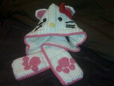 Hello kitty scoodie ~ free pattern ᛡ