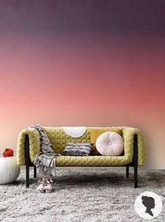 Seja nas paredes, na cortina, nas almofadas, na escada ou em armários e acessórios, a decoração em degradê deu um 'up' nestes dez ambientes