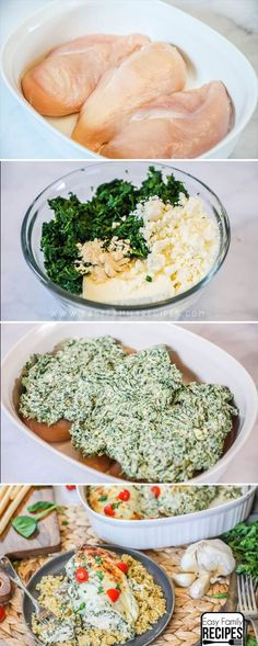 Low Carb Keto Spinach and Feta Chicken recipe – easy dinner idea SO GOOD! Low Carb Keto Spinach and Feta Chicken recipe – easy dinner idea Low Carb Recipes, Diet Recipes, Cooking Recipes, Healthy Recipes, Bbc Recipes, Recipies, Easy Family Meals, Easy Meals, Family Recipes