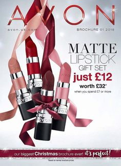 Avon online brochure campaign 1 2018 - Shop the latest Christmas gifts. Super easy online ordering with courier delivery direct to your door in days. Matte Lipstick, Lipstick Colors, Lipstick Gift Set, High Pigment Eyeshadow, Best Serum, Avon Brochure, Bronze Skin, Cream Concealer, Avon Online
