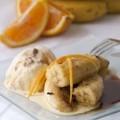 Plátano flambeado con miel de Palma