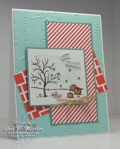 Stampin Up holiday catalog happy scenes stamp set and bundle framelits halloween card idea