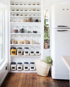 Open shelf pantry