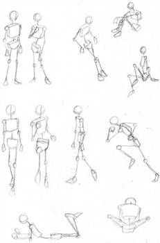 Pose and Motion studies by dragonghosthalfa on DeviantArt Now THIS I am proud of. Another of my favourite scholarship requirements. For some reason, this sort of thing I can do. The 'frontal running' … Pose and Motion studies Human Figure Sketches, Human Sketch, Figure Sketching, Figure Drawings, Gesture Drawing, Anatomy Drawing, Anatomy Art, Stick Figure Drawing, Human Figure Drawing