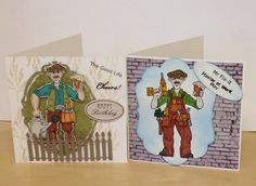 Two cards made using the stamps from the La Pashe range....