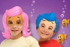 Bubble Guppies Free Printable Mask.