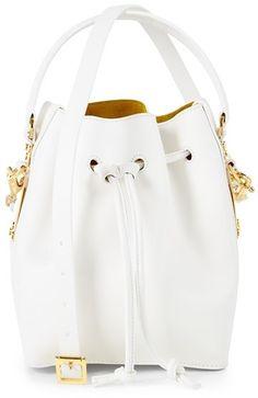 Sophie Hulme 'Small' Drawstring Leather Shoulder Bag