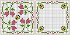 Cross-stitch Biscornu Set ... no color chart available, just use pattern chart as your color guide.. or choose your own colors...   Картинка