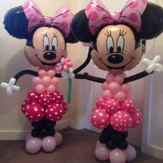 Twin Minnie Mouse balloon models x