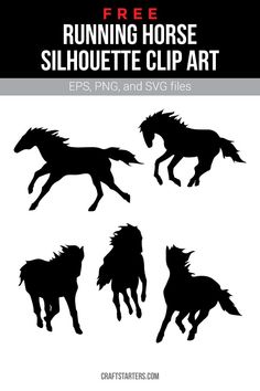 Free running horse silhouette clip art in EPS, PNG (transparent), and SVG formats. Silhouette Curio, Horse Silhouette, Silhouette Clip Art, Cricut Tutorials, Cricut Ideas, Horse Clip Art, Free Printable Clip Art, Horse Clipping, Circuit Crafts