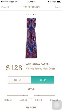 love this dress...especially print & colors but a bit more expensive than what i've paid in the past for a maxi