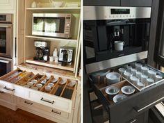 9+1 elképesztően praktikus és gyönyörű konyhafiók Stove, Projects To Try, Kitchen Appliances, Storage Ideas, Interiors, Shoes Heels, Cooking, Kitchen Tools, Home Appliances