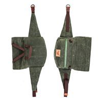 GOLIATH - Pine Green with grass green waterproof zipper Blind Chic.