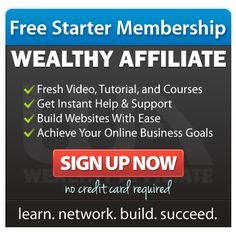 Wealthy Affiliate University Starter Account