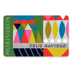 Nordstrom Feliz Navidad Gift Card ❤ liked on Polyvore featuring gift cards