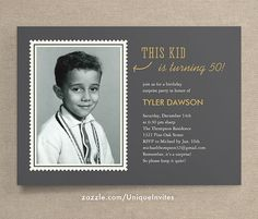 Shop Photo Surprise Birthday Invitations For Adults created by UniqueInvites. Personalize it with photos & text or purchase as is! Wedding Invitations With Pictures, Photo Invitations, Fun Wedding Invitations, Invitations Online, Vintage Invitations, Invitation Wording, Invitation Ideas, Invitation Cards, 50th Birthday Party Invitations