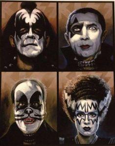 Kiss ala Universal Monsters
