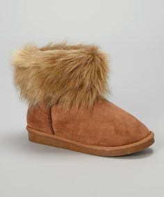 Love this Camel Faux Fur Bootie by Overstock LA on #zulily! #zulilyfinds
