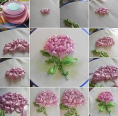 BORDAR CON CINTA. TUTORIAL FLOR