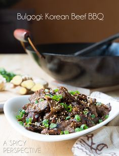 Bulgogi: Korean BBQ beef recipe! Packed with flavour and made in just 30 minutes!