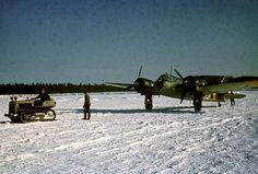 A Finnish Air Force Bristol Blenheim bomber of Squadron on snowy airfield in Luonetjärvi, Finland, 31 March Finnish Air Force, Bristol Blenheim, Colorized Photos, Air Festival, History Online, Vintage Design, Vintage Ideas, Vintage Stuff, Ww2 Aircraft