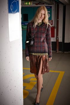 Love sequins with tartan
