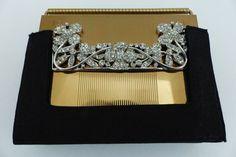 Volupte Compact Carryall ~ Rhinestone Jeweled ~ w/ Box Mint